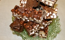Rocky Road Slab. Serves around 12 - can be cut into 32 small bites. £31.85