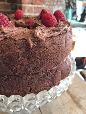 Chocolate and Raspberry Vegan and Gluten Free. Serves around 8. £26.50