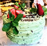 Mint Madness 3 layers of our chocolate sponge filled with mint frosting and topped with seasonal fruits, shaved chocolate and fresh mint. Serves around 23. £69.50